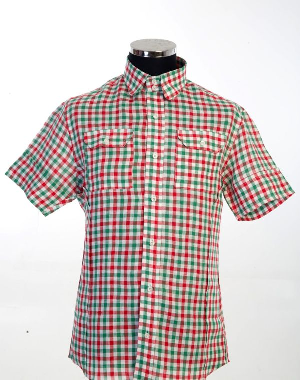 Check Shirt with patch pockets 100% linen Sizes 2xL(1) and 3XL(1),Total 2. £140 now £70 code002